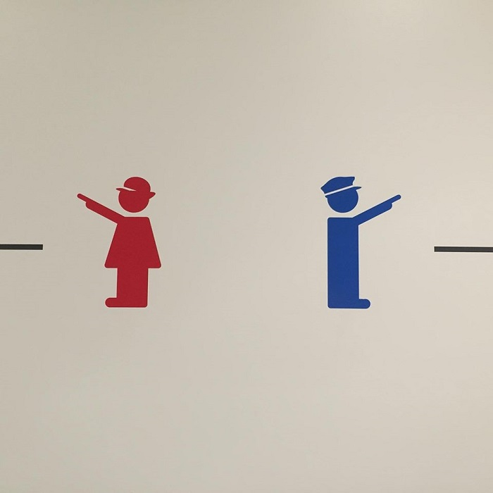 京都鉄道博物館のトイレのマーク